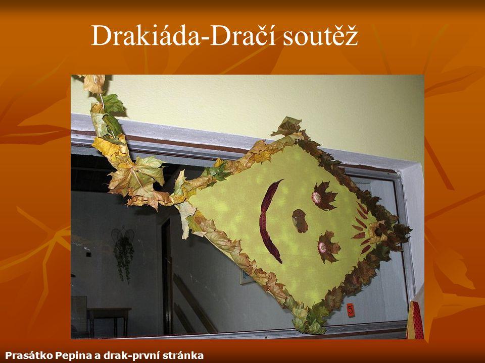 Drakiáda-Dračí soutěž Prasátko Pepina a drak-první stránka