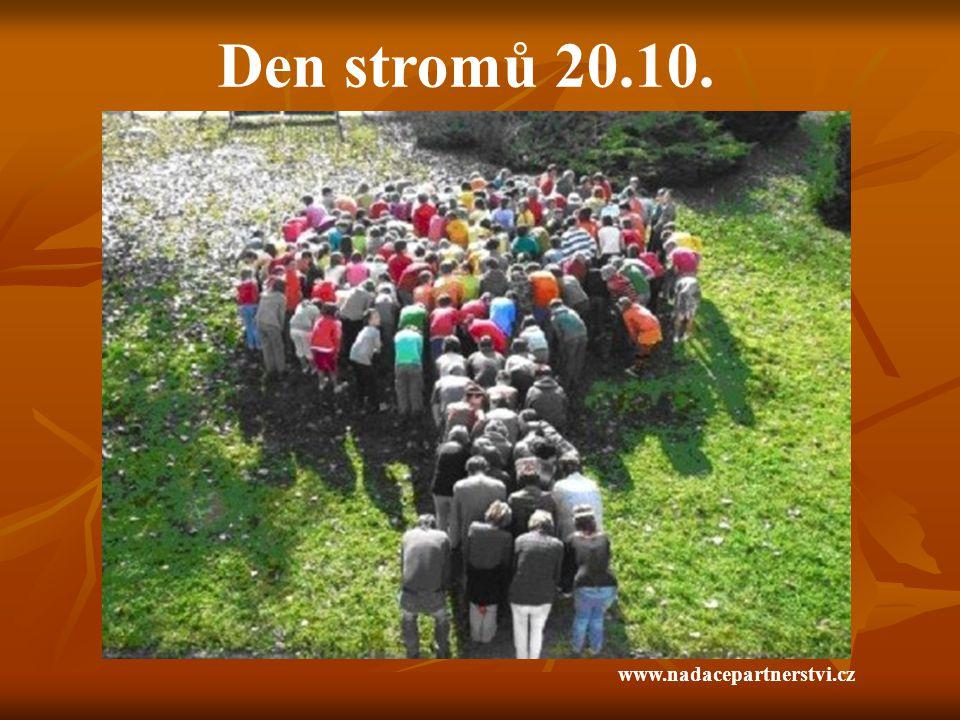 Den stromů 20.10. www.nadacepartnerstvi.cz