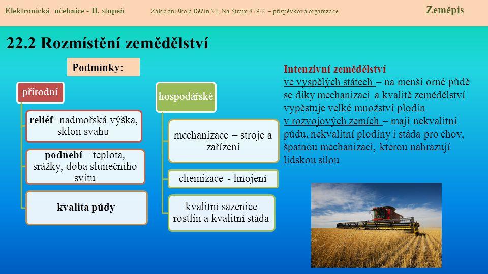 22.3 Zemědělské plodiny Elektronická učebnice - II.