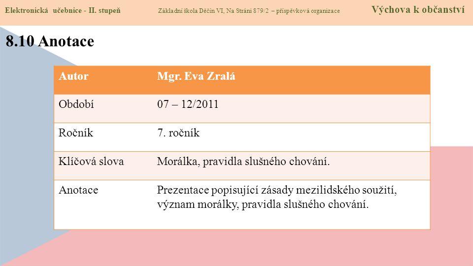 8.10 Anotace Elektronická učebnice - II.