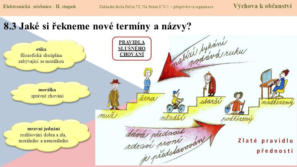 8.3 Jaké si řekneme nové termíny a názvy. Elektronická učebnice - II.