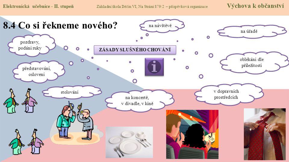 8.4 Co si řekneme nového. Elektronická učebnice - II.