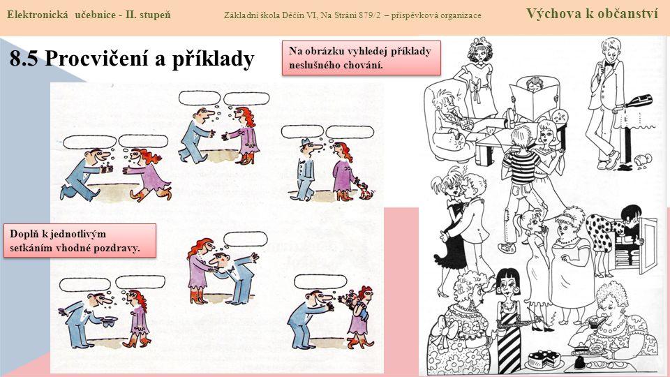 8.5 Procvičení a příklady Elektronická učebnice - II.