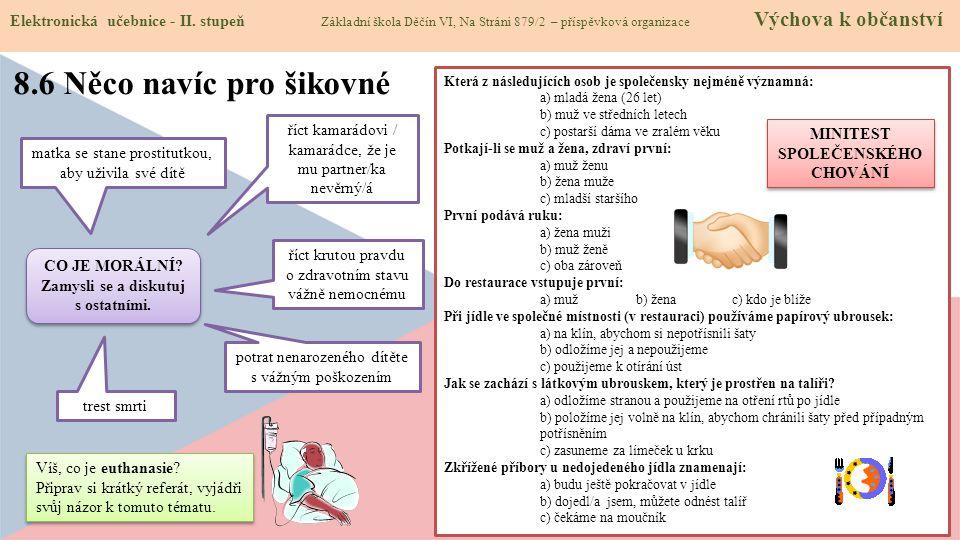 8.7 CLIL (The rules of conduct) Elektronická učebnice - II.