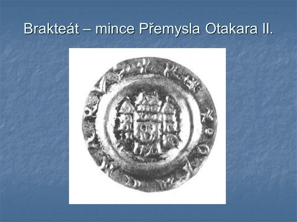 Brakteát – mince Přemysla Otakara II.