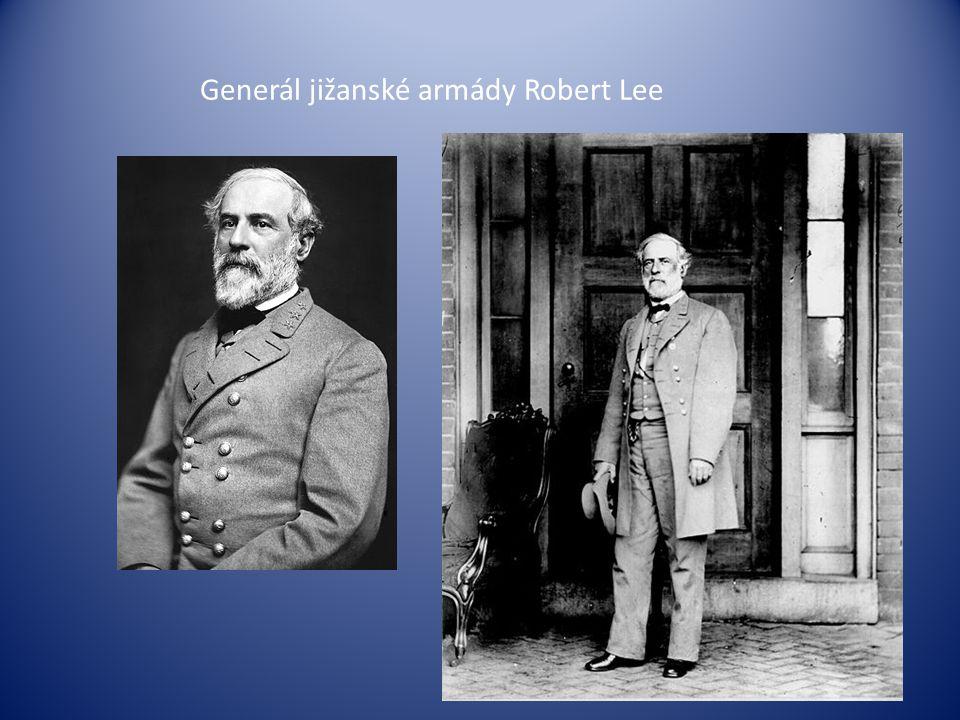 Generál jižanské armády Robert Lee