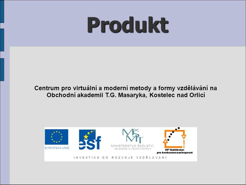 Produkt Centrum pro virtuální a moderní metody a formy vzdělávání na Obchodní akademii T.G.