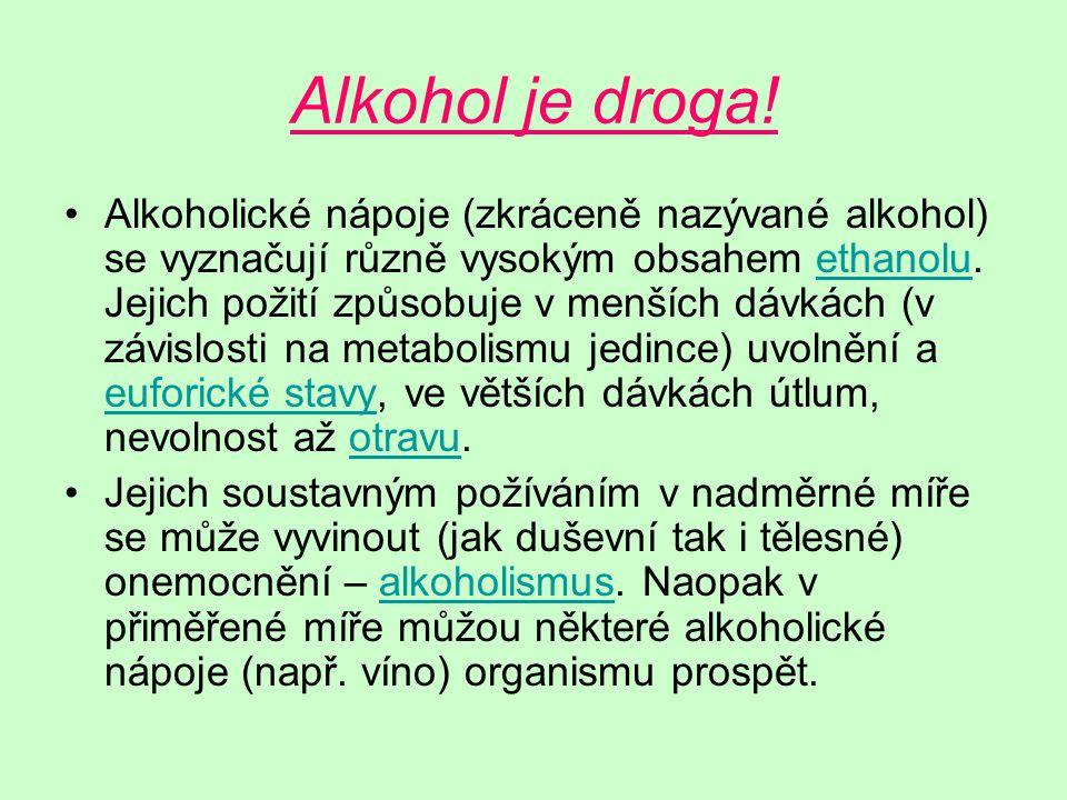 Alkohol je droga.