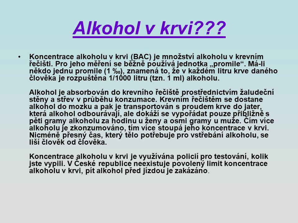 Alkohol v krvi . Koncentrace alkoholu v krvi (BAC) je množství alkoholu v krevním řečišti.
