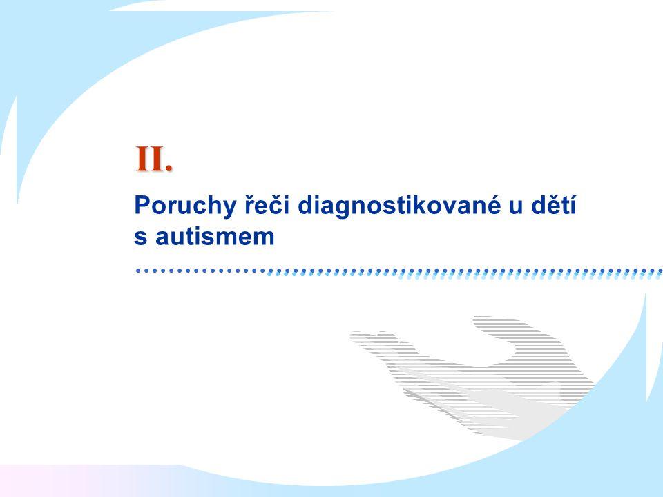 Poruchy řeči diagnostikované u dětí s autismem II.