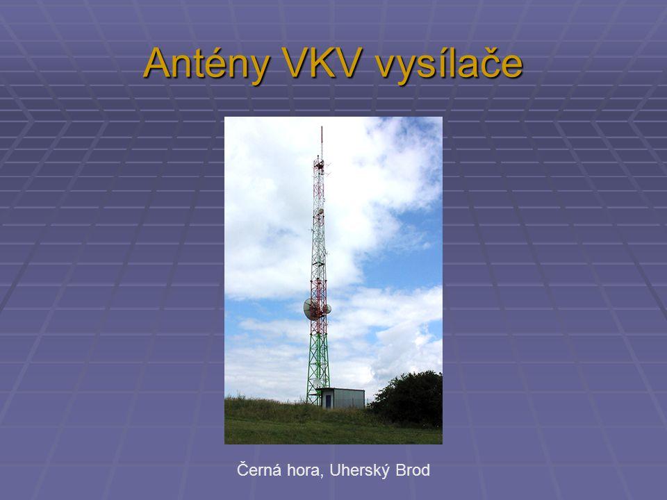 Antény VKV vysílače Černá hora, Uherský Brod