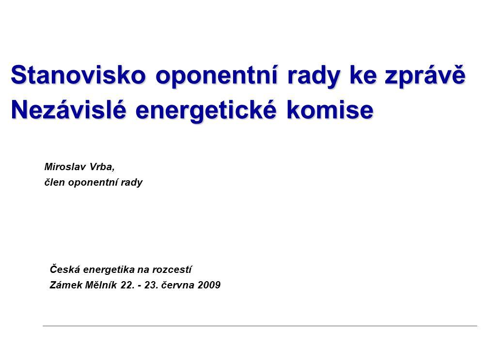 Česká energetika na rozcestí Zámek Mělník 22. - 23.