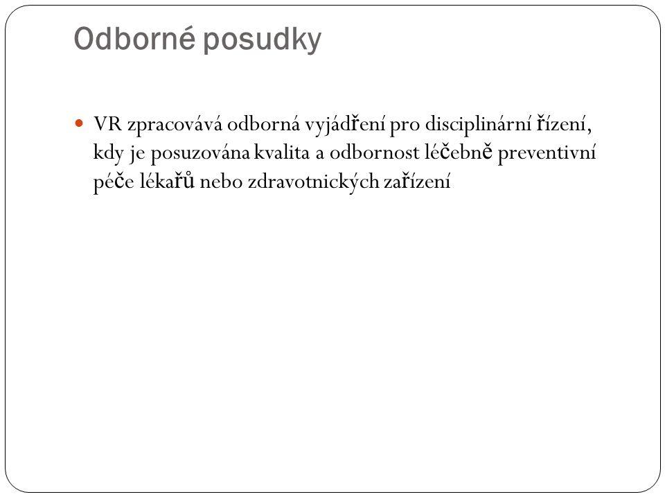 Odborné posudky VR ČLK : 1.1. 2013 – 31. 12.