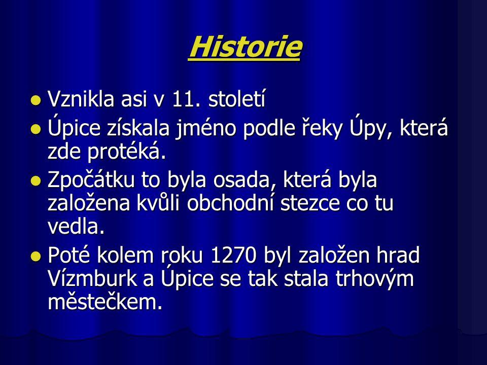 Historie Vznikla asi v 11.století Vznikla asi v 11.