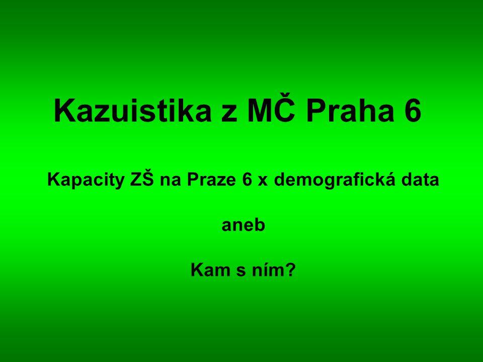 Kazuistika z MČ Praha 6 Kapacity ZŠ na Praze 6 x demografická data aneb Kam s ním?