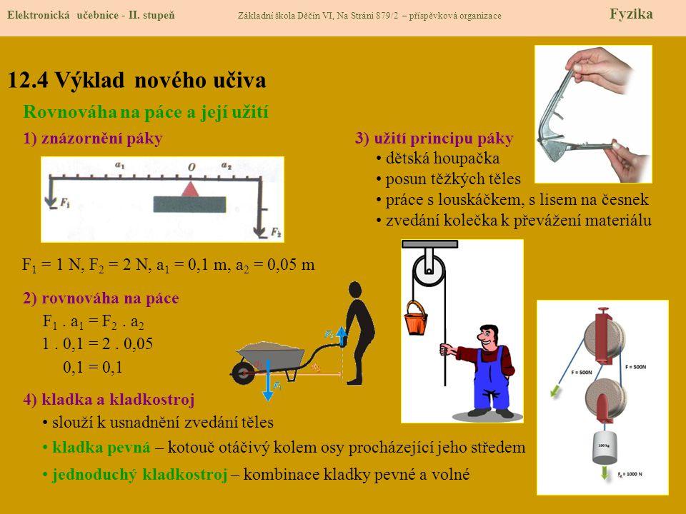 12.4 Výklad nového učiva Elektronická učebnice - II.