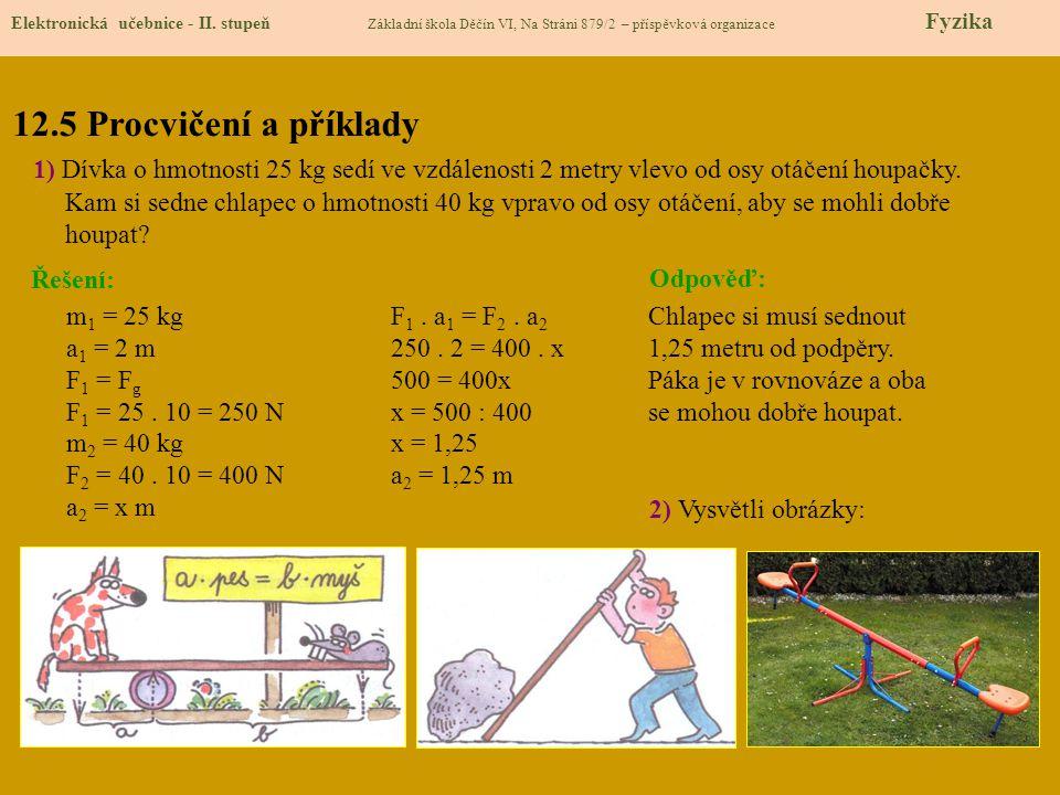 12.5 Procvičení a příklady Elektronická učebnice - II.