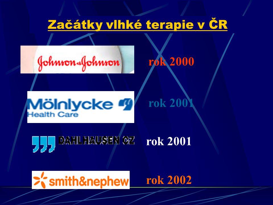 rok 2000 rok 2001 rok 2002 Začátky vlhké terapie v ČR