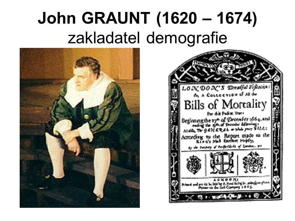 John GRAUNT (1620 – 1674) zakladatel demografie