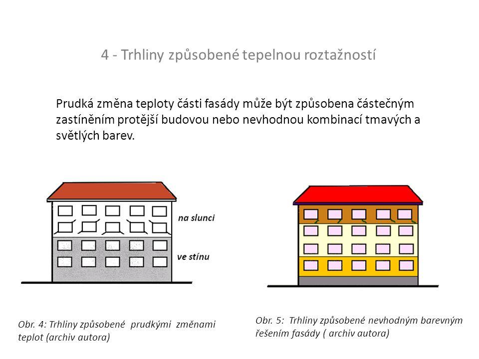 5 Přetížení konstrukcí Obr. 6: Trhliny cihelného pilíře způsobené přetížením ( archiv autora)