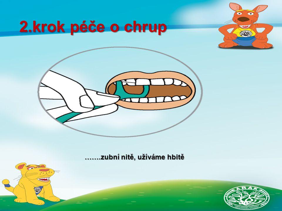 2.krok péče o chrup …….zubní nitě, užíváme hbitě