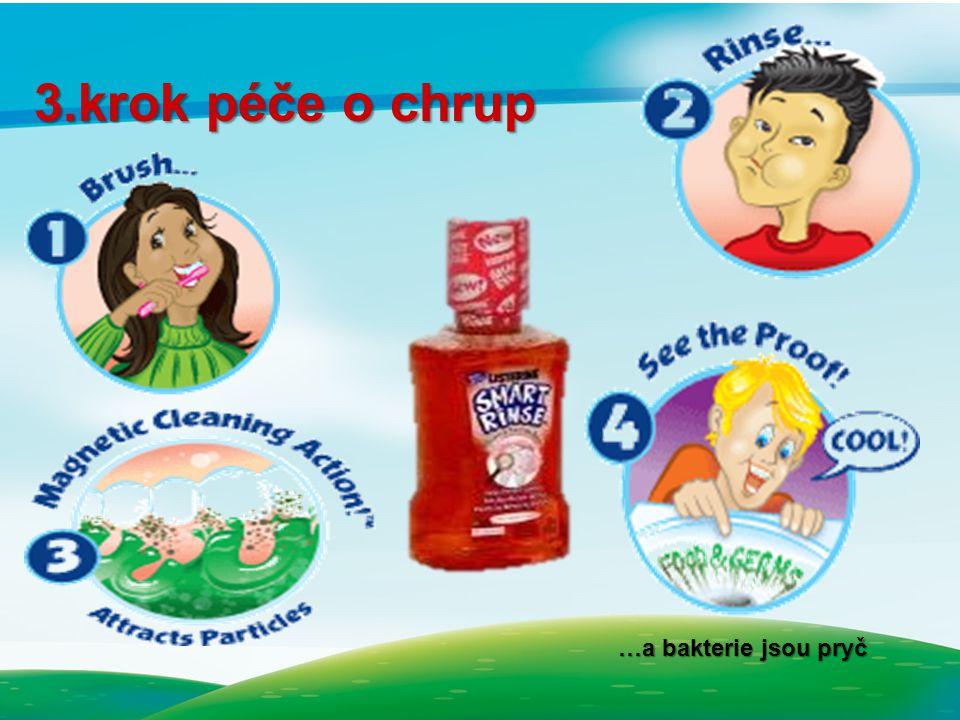 3.krok péče o chrup …a bakterie jsou pryč