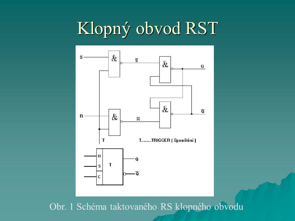 Klopný obvod RST Obr. 1 Schéma taktovaného RS klopného obvodu