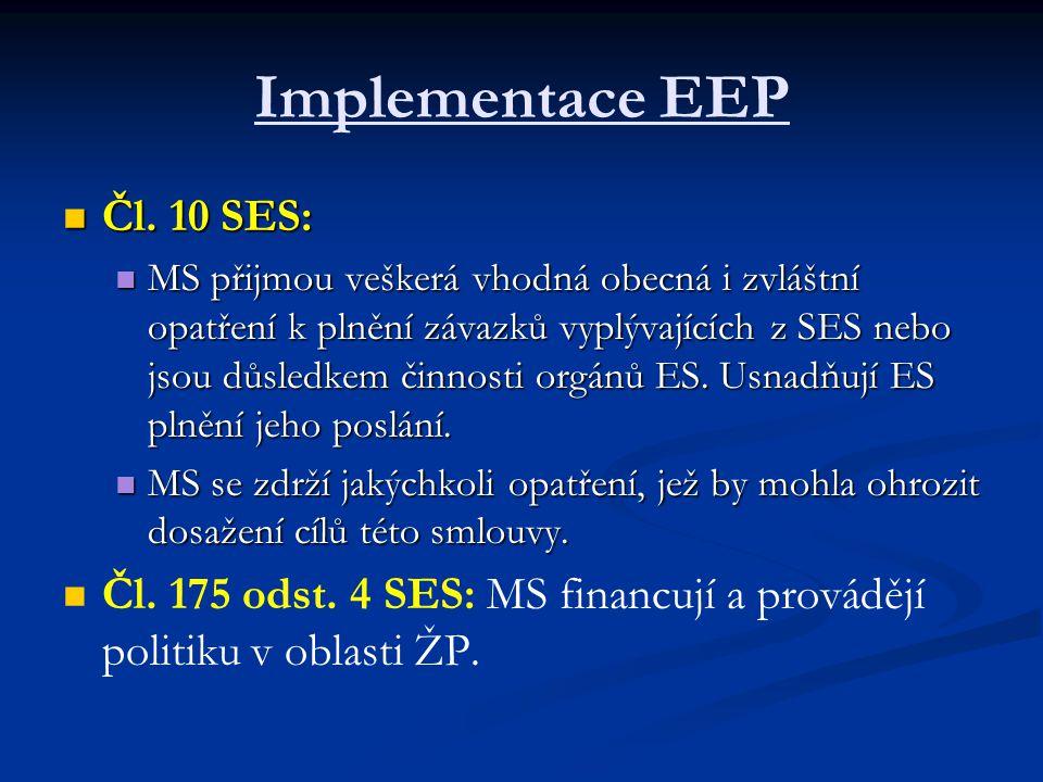 Implementace EEP Čl. 10 SES: Čl.