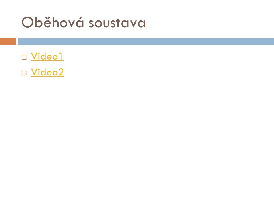 Oběhová soustava  Video1 Video1  Video2 Video2