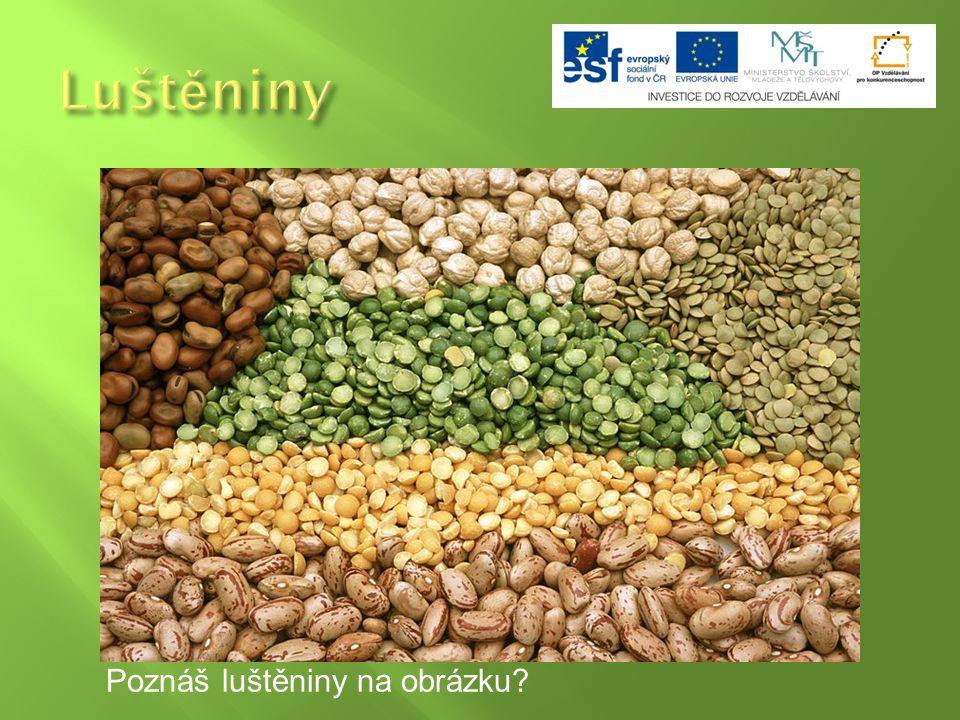 Luštěnina neboli luskovina je označení pro rostliny a jejich plody: hrách, fazole, čočka a sója.