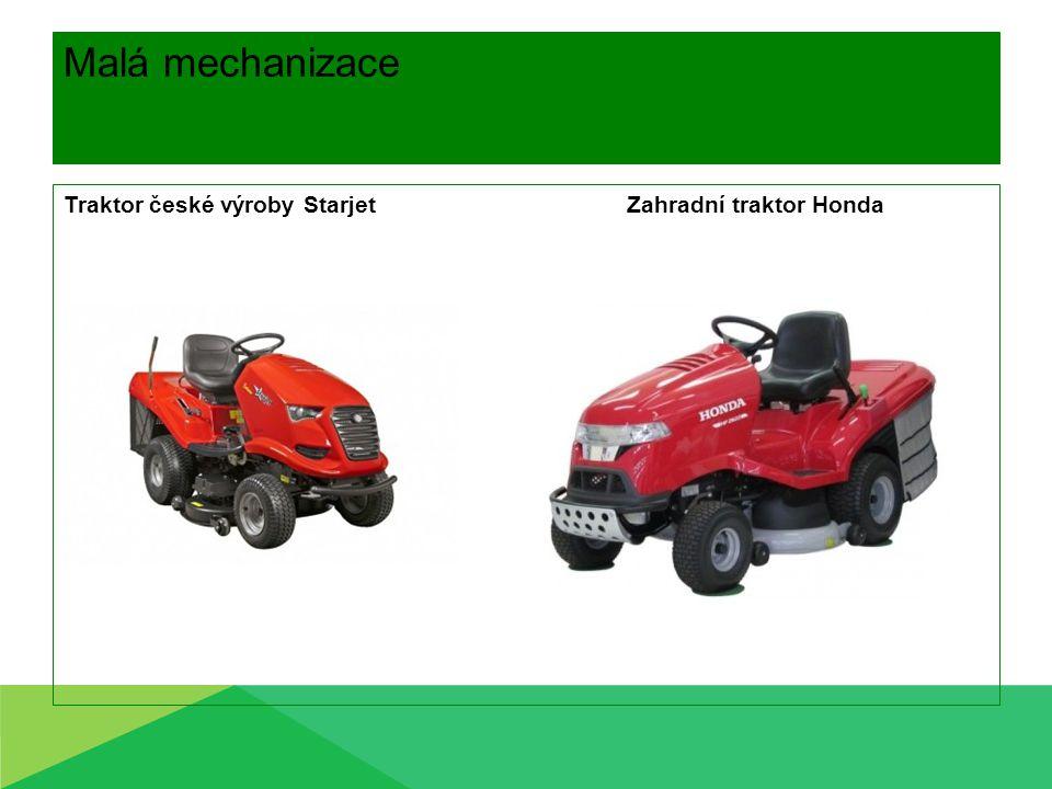 Malá mechanizace Traktor české výroby Starjet Zahradní traktor Honda