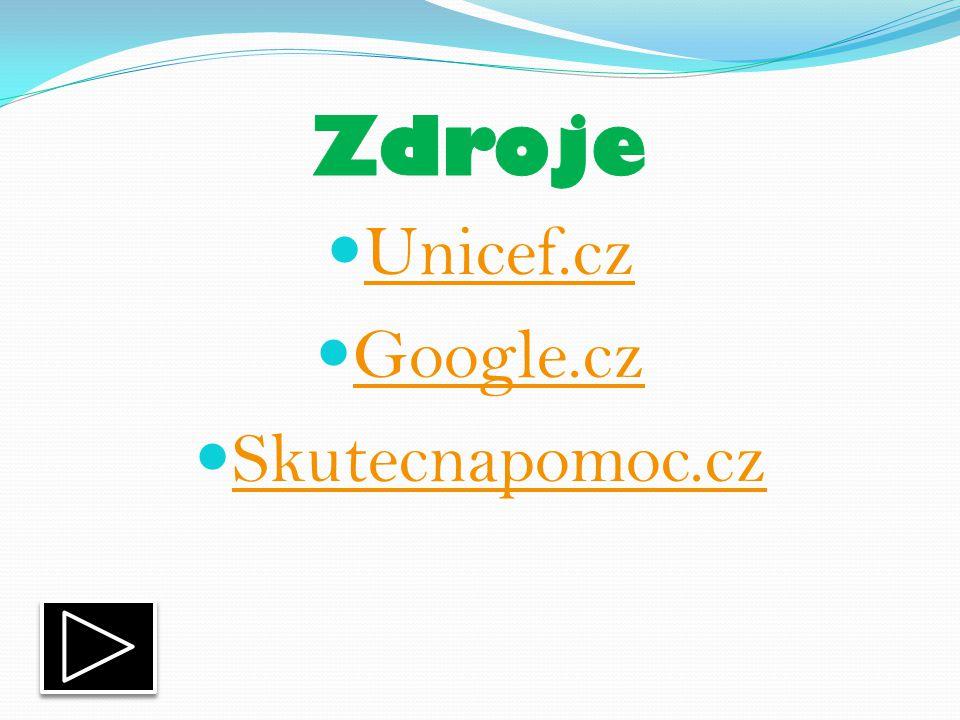 Unicef.cz Google.cz Skutecnapomoc.cz