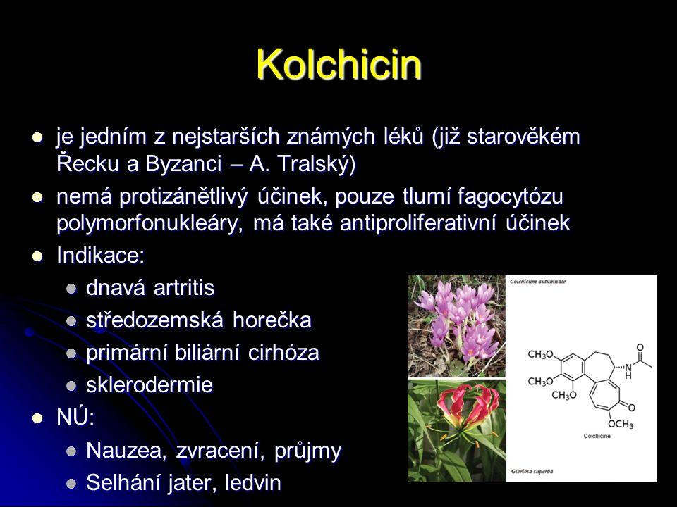 Kolchicin je jedním z nejstarších známých léků (již starověkém Řecku a Byzanci – A. Tralský) je jedním z nejstarších známých léků (již starověkém Řeck