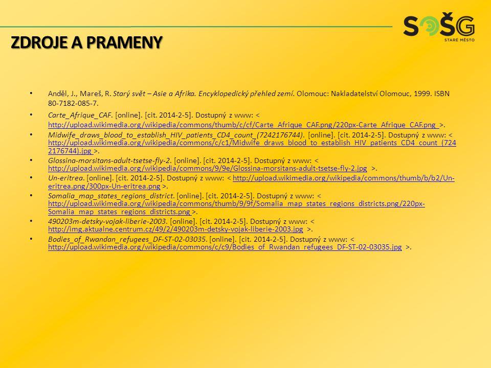 Anděl, J., Mareš, R. Starý svět – Asie a Afrika. Encyklopedický přehled zemí. Olomouc: Nakladatelství Olomouc, 1999. ISBN 80-7182-085-7. Carte_Afrique