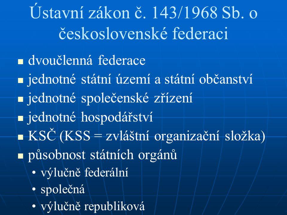 Ústavní zákon č.143/1968 Sb.