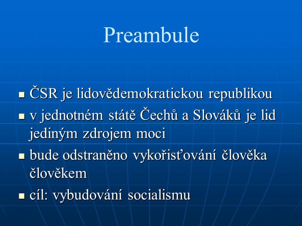 Slovenská národní rada nositelka zákonodárné moci na Slovensku nositelka zákonodárné moci na Slovensku představitelka národní svrchovanosti a svébytnosti slovenského národa představitelka národní svrchovanosti a svébytnosti slovenského národa nejvyšší orgán státní moci v SSR nejvyšší orgán státní moci v SSR usnášet se na ústavě, ústavních a jiných zákonech republikyusnášet se na ústavě, ústavních a jiných zákonech republiky schvalovat střednědobý národohospodářský plán a státní rozpočetschvalovat střednědobý národohospodářský plán a státní rozpočet zákonem zřizovat ministerstva a jiné ústřední orgányzákonem zřizovat ministerstva a jiné ústřední orgány schvalovat zákonná opatření svého Předsednictvaschvalovat zákonná opatření svého Předsednictva zrušit nařízení nebo usnesení vlády republiky nebo všeobecně závazný předpis ministerstva nebo jiného ústředního orgánu státní správy SSRzrušit nařízení nebo usnesení vlády republiky nebo všeobecně závazný předpis ministerstva nebo jiného ústředního orgánu státní správy SSR