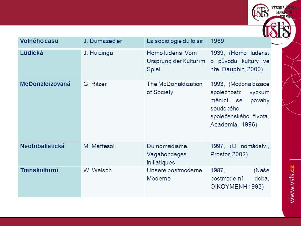 Volného časuJ.DumazedierLa sociologie du loisir1969 LudickáJ.