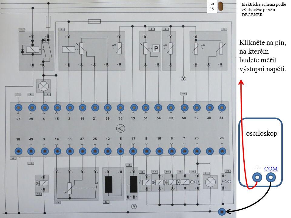 COM + Klikněte na pin, na kterém budete měřit výstupní napětí.