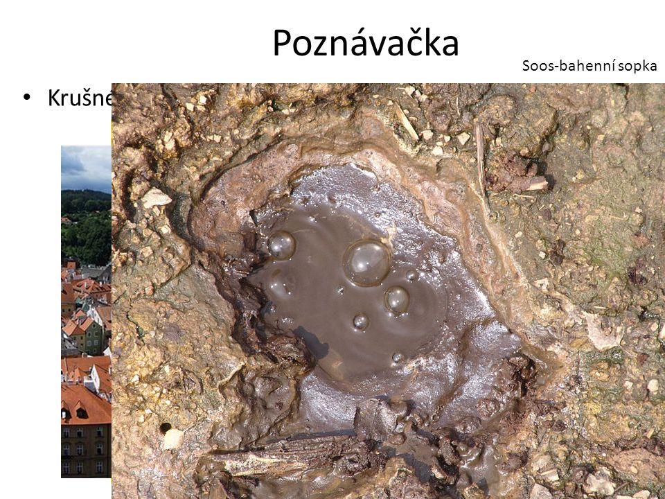 Poznávačka Krušné hory Ještěd Soos-bahenní sopka KaolínČeský Krumlov