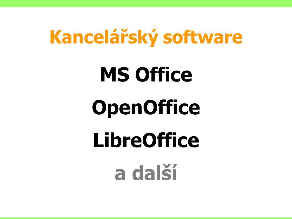 Kancelářský software MS Office OpenOffice LibreOffice a další
