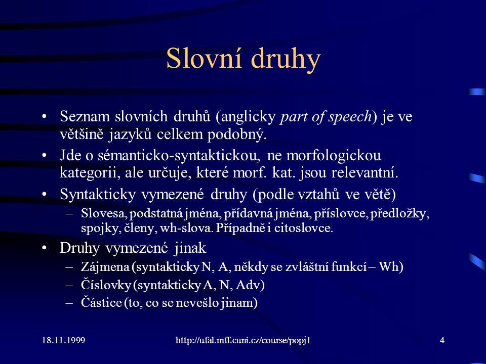 18.11.1999http://ufal.mff.cuni.cz/course/popj115 Stylová či jiná odchylka 1jiná varianta, méně častá 2jiná varianta, velmi řídká, zastaralá nebo knižní 3velmi zastaralá, popř.