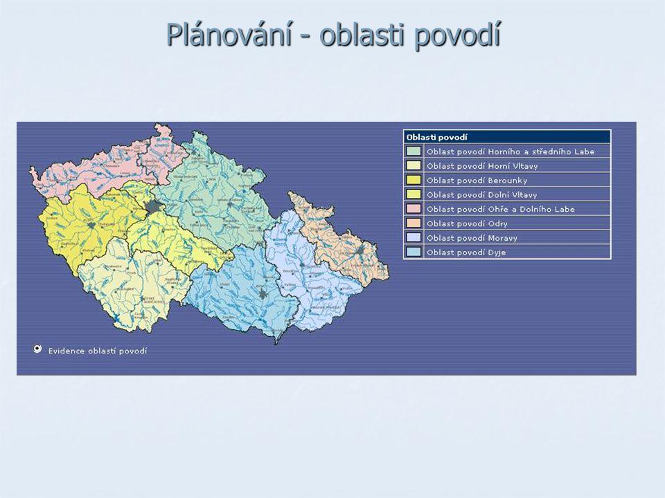 Plánování - oblasti povodí