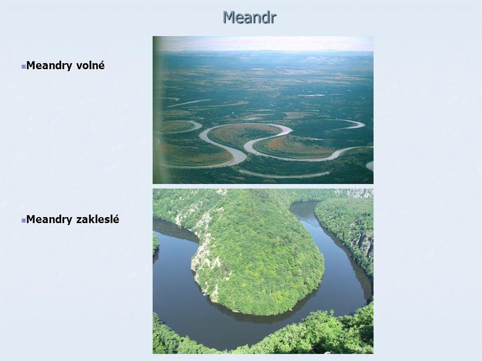 Meandr Meandry volné Meandry volné Meandry zakleslé Meandry zakleslé