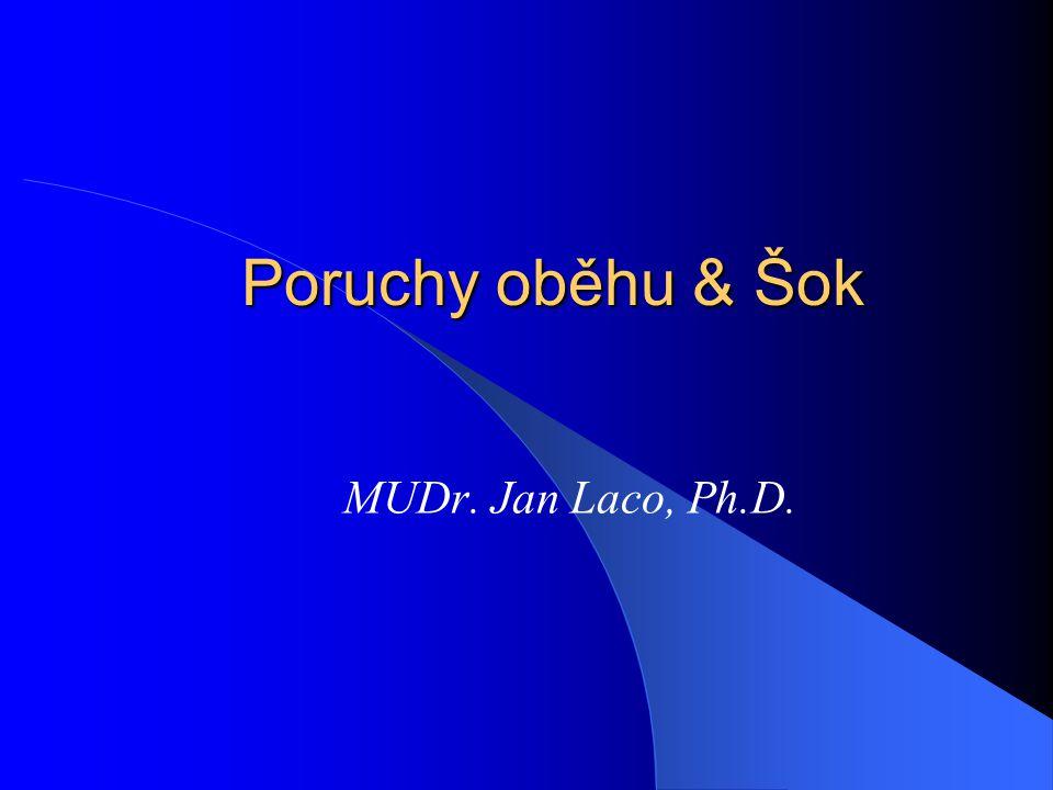 Poruchy oběhu & Šok MUDr. Jan Laco, Ph.D.