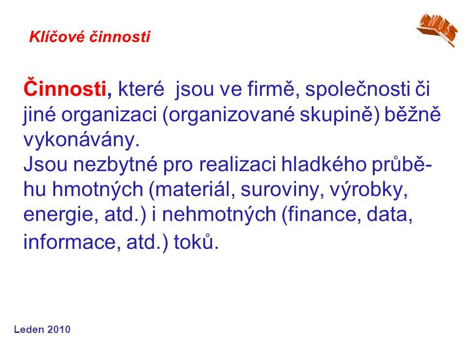 Činnosti, které jsou ve firmě, společnosti či jiné organizaci (organizované skupině) běžně vykonávány.