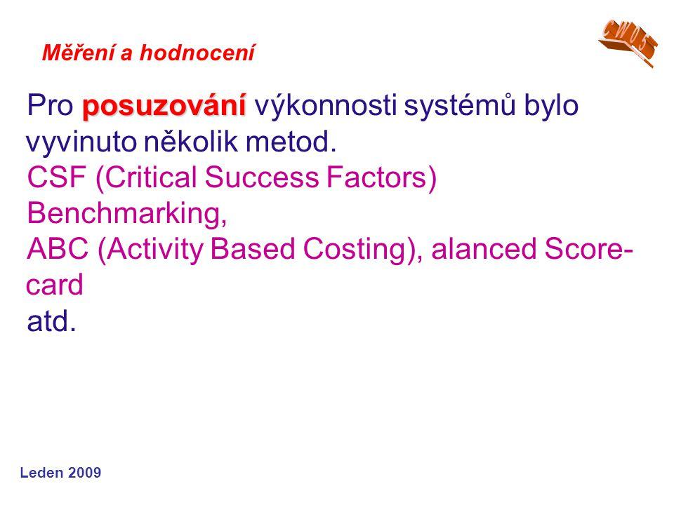 Leden 2009 posuzování Pro posuzování výkonnosti systémů bylo vyvinuto několik metod.