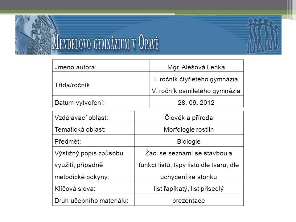 LIST.Metodické pokyny.