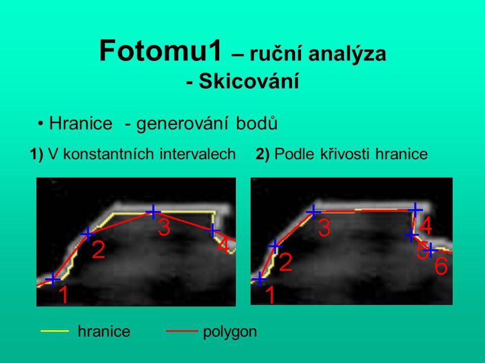 Fotomu1 – Speciální zadávání bodů analyzovaná oblastzadaný bod