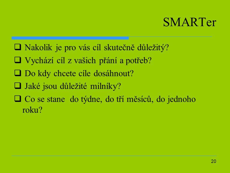 20 SMARTer  Nakolik je pro vás cíl skutečně důležitý.