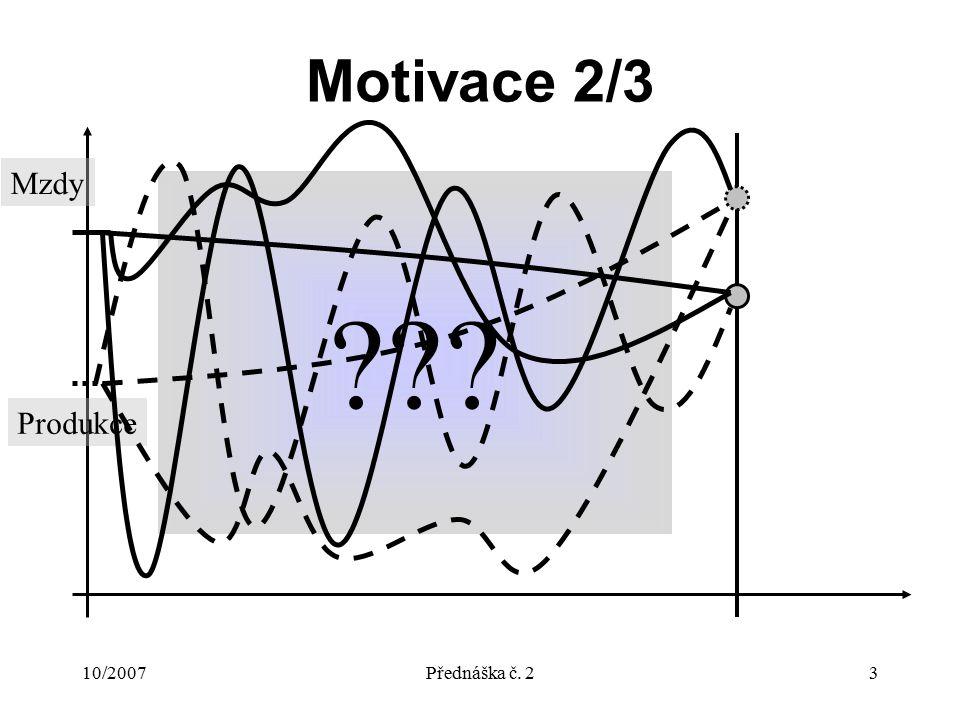 10/2007Přednáška č.24 Motivace 3/3 Proč to dělám.